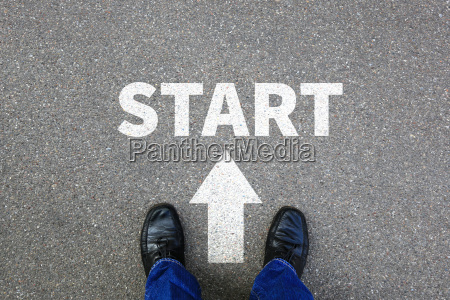 start start business concept start job