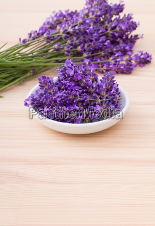 porcelain bowl with lavender blossoms and