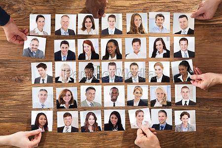 geschaeftsleute die das kandidat portrait foto