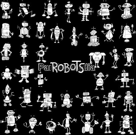 robot characters big set