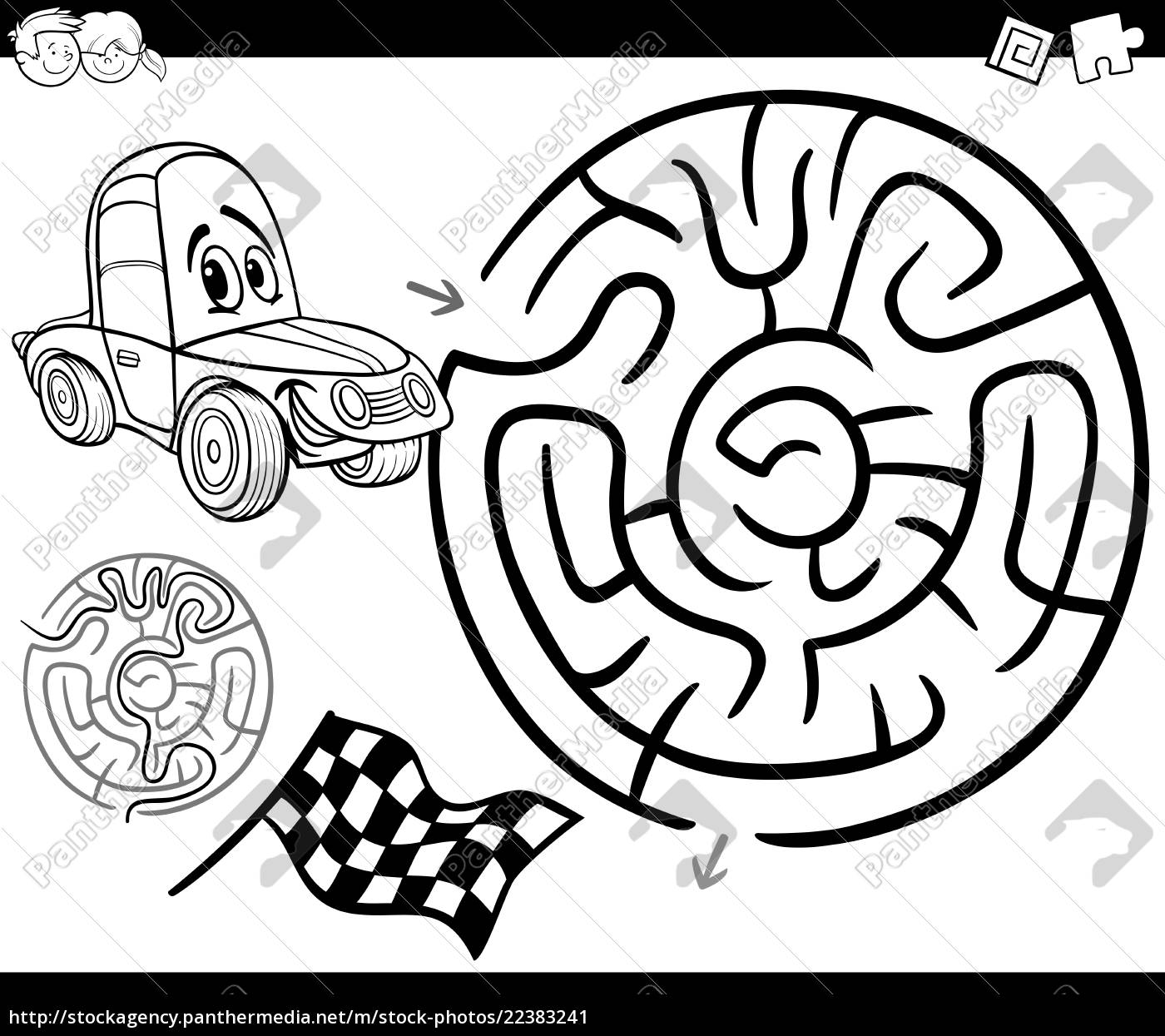 malvorlagen labyrinth bilder  kinder zeichnen und ausmalen