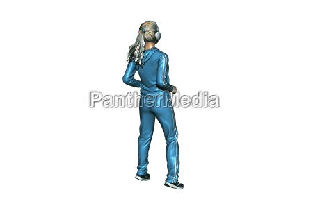jogger with headphones released