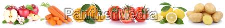 obst und gemuese fruechte AEpfel orangen