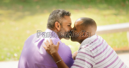 kiss and love between gay couple