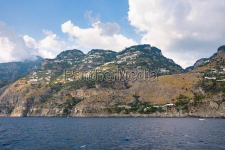 amalfi coast in the san michele