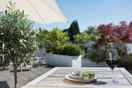 summer still life on a terrace