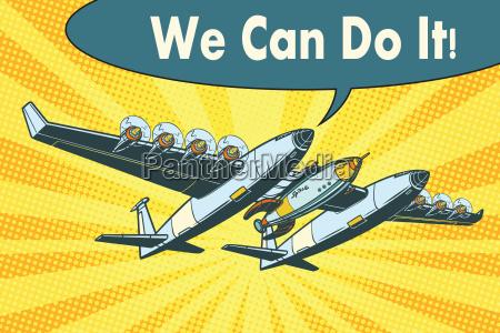 flugzeug um raketen in den raum
