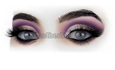 woman eyes fashion makeup
