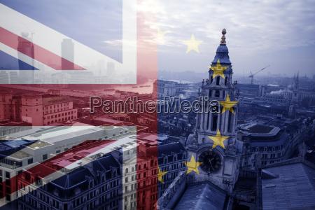 uk flag eu flag and st