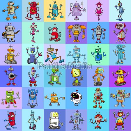 decorative pattern design with robots