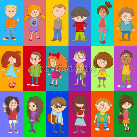 decorative pattern design with kids