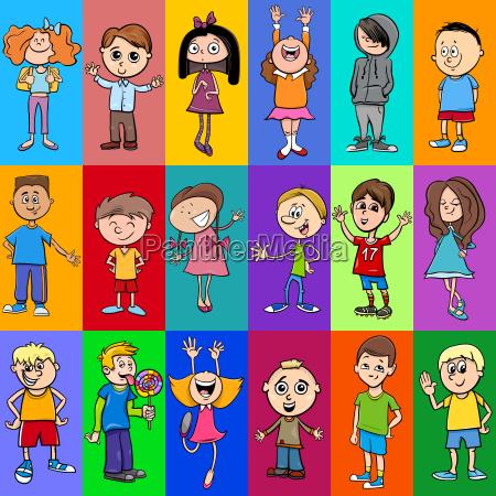 decorative pattern design with children