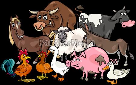 cartoon-nutztier-gruppe - 22612741