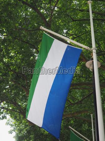sierra leoneische flagge