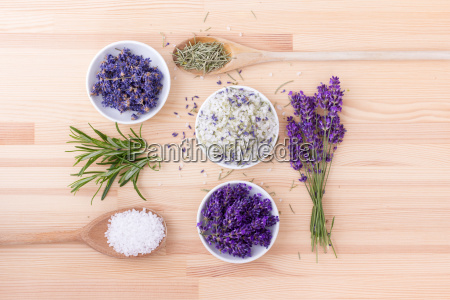 herb salt of rosemary and lavender