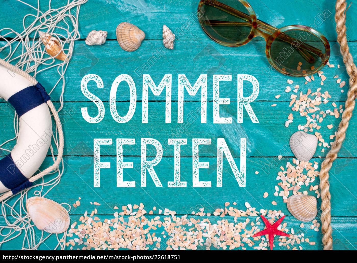 Sommerferien Ferien Sommerurlaub Urlaub im Sommer   Lizenzfreies ...
