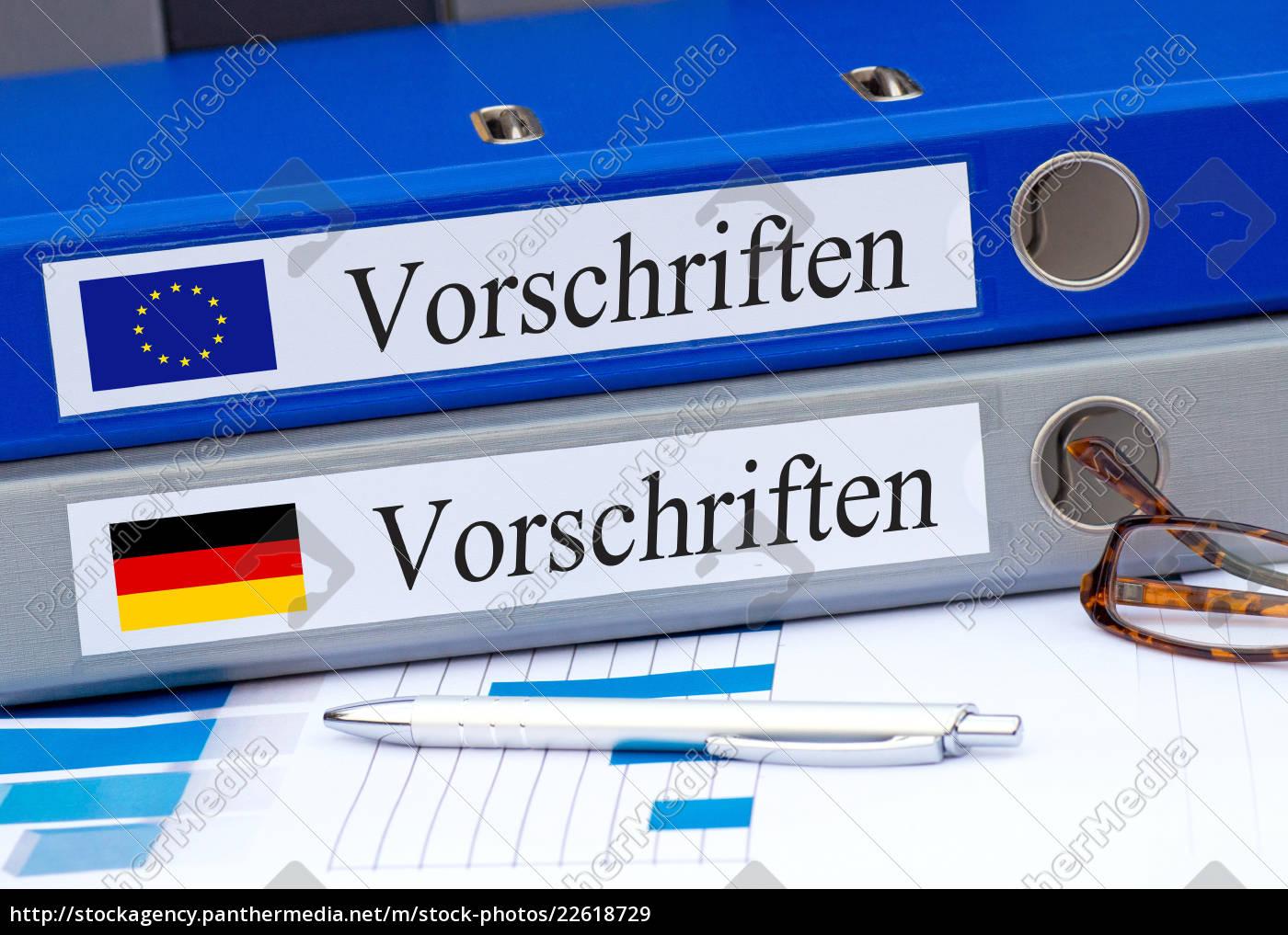 eu und deutschland vorschriften ordner lizenzfreies bild. Black Bedroom Furniture Sets. Home Design Ideas