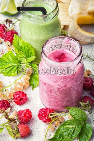 breakfast with raspberry yogurt dessert