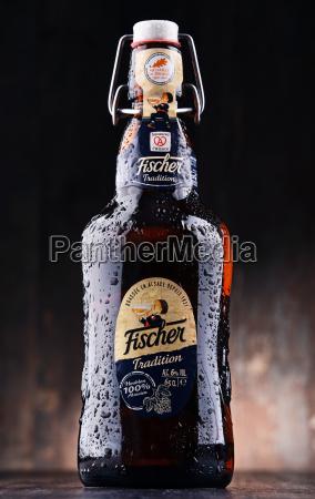 flasche fischer traditionr bier