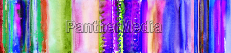 stripes colorful hand painted watercolor banner