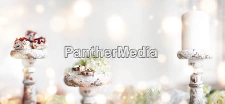 romantic still life with bokeh for