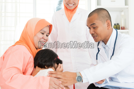 children crying at hospital