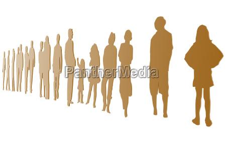 gruppe von sitzenden menschen freigestellt