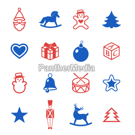 digital vector red blue happy new
