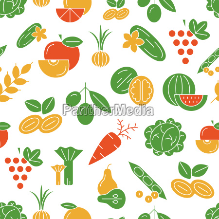 digital vector green and red vegetable