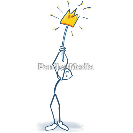 stick figure with crown on a