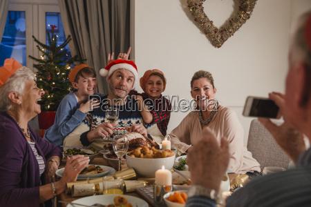 dummes weihnachtsweihnachtsessen foto