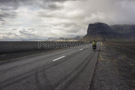 tourismus wolke radfahrer horizontal outdoor freiluft