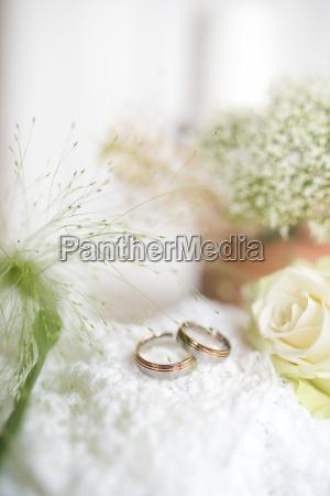 tender still life with wedding rings
