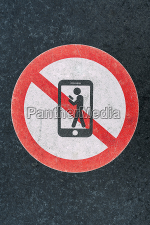 pedestrian warning sign