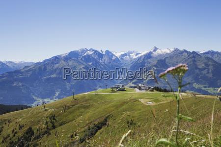 austria salzburg state mountain panorama from