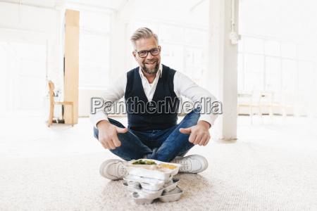 geschaeftsmann sitting auf