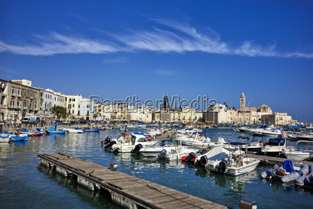 the seaport of trani apulia italy