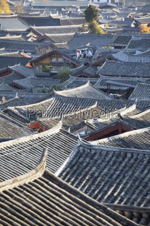 ansicht von lijiang unesco welterbestaette yunnan