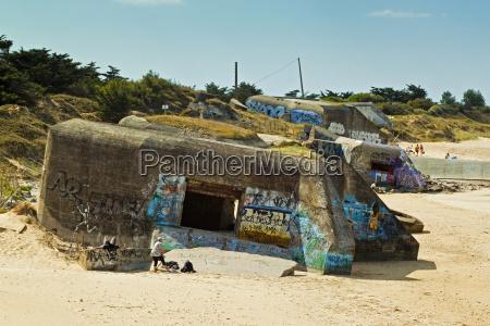 german wwii bunkers la plage de