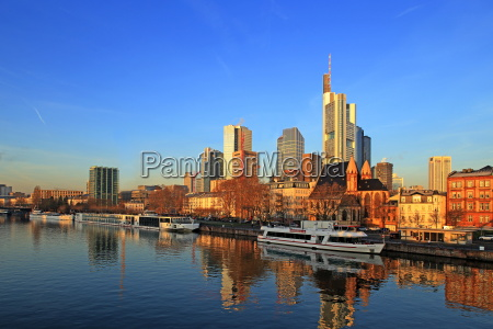 view across main river towards the