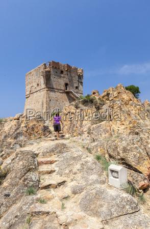 genoese tower of granite rocks built