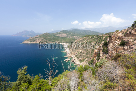 top view of turquoise sea and