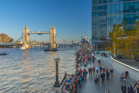tower bridge over river thames city