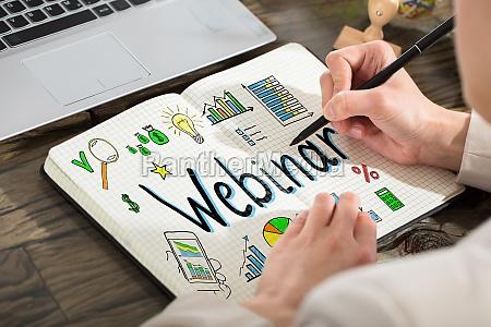 geschaeftsperaet zeichnen webinar chart