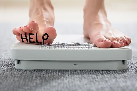 help written on womans foot