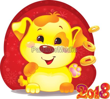 nettes symbol des chinesischen horoskops