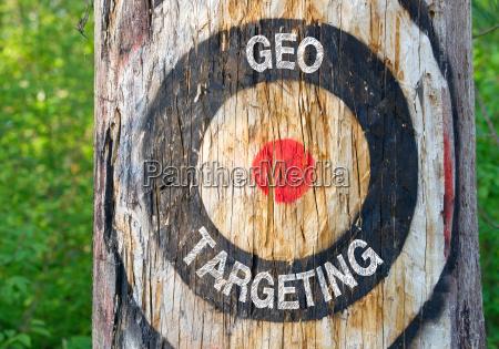 geo targeting tree with target