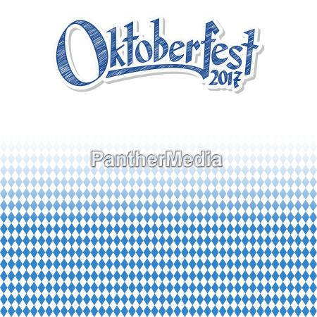 oktoberfest, background, with, blue-white, checkered, pattern - 22702115