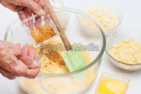 zucker zuzubereiten um maisbrot zuzubereiten
