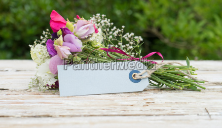 bouquet of fragrant sweet peas and